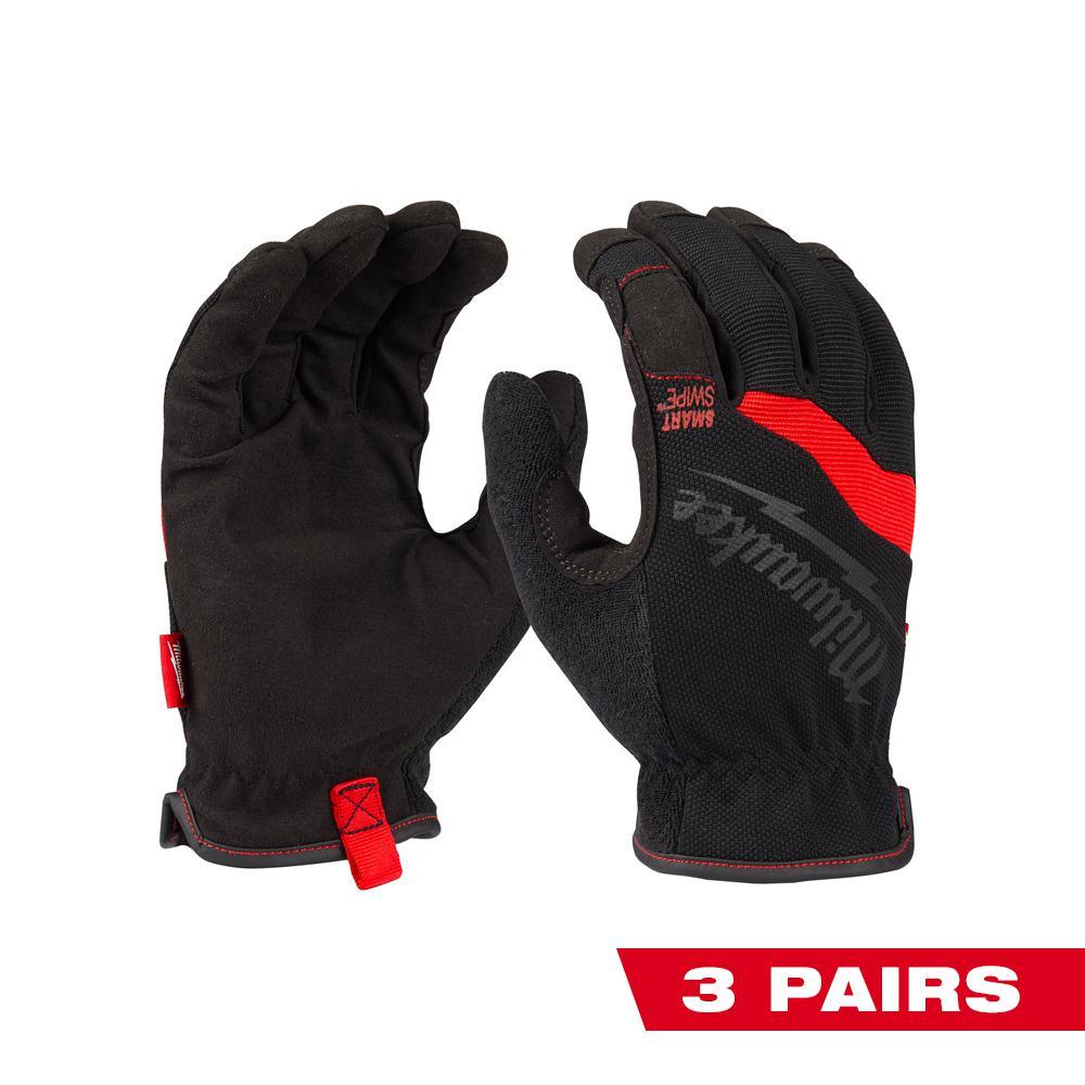 Medium FreeFlex Work Gloves (3-Pack)