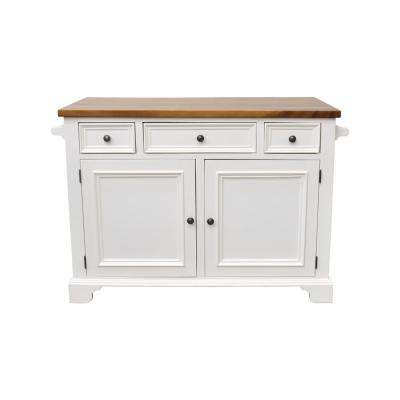 Hamilton White Kitchen Island