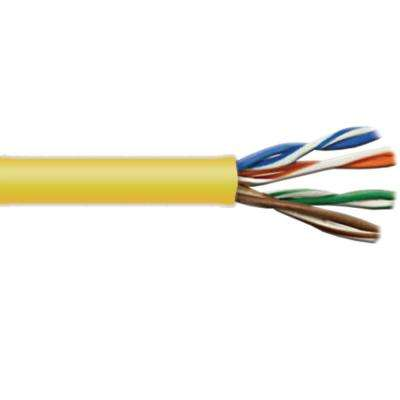 Cat5E 1,000 ft. Yellow 24-4 Riser Twisted Pair Cable