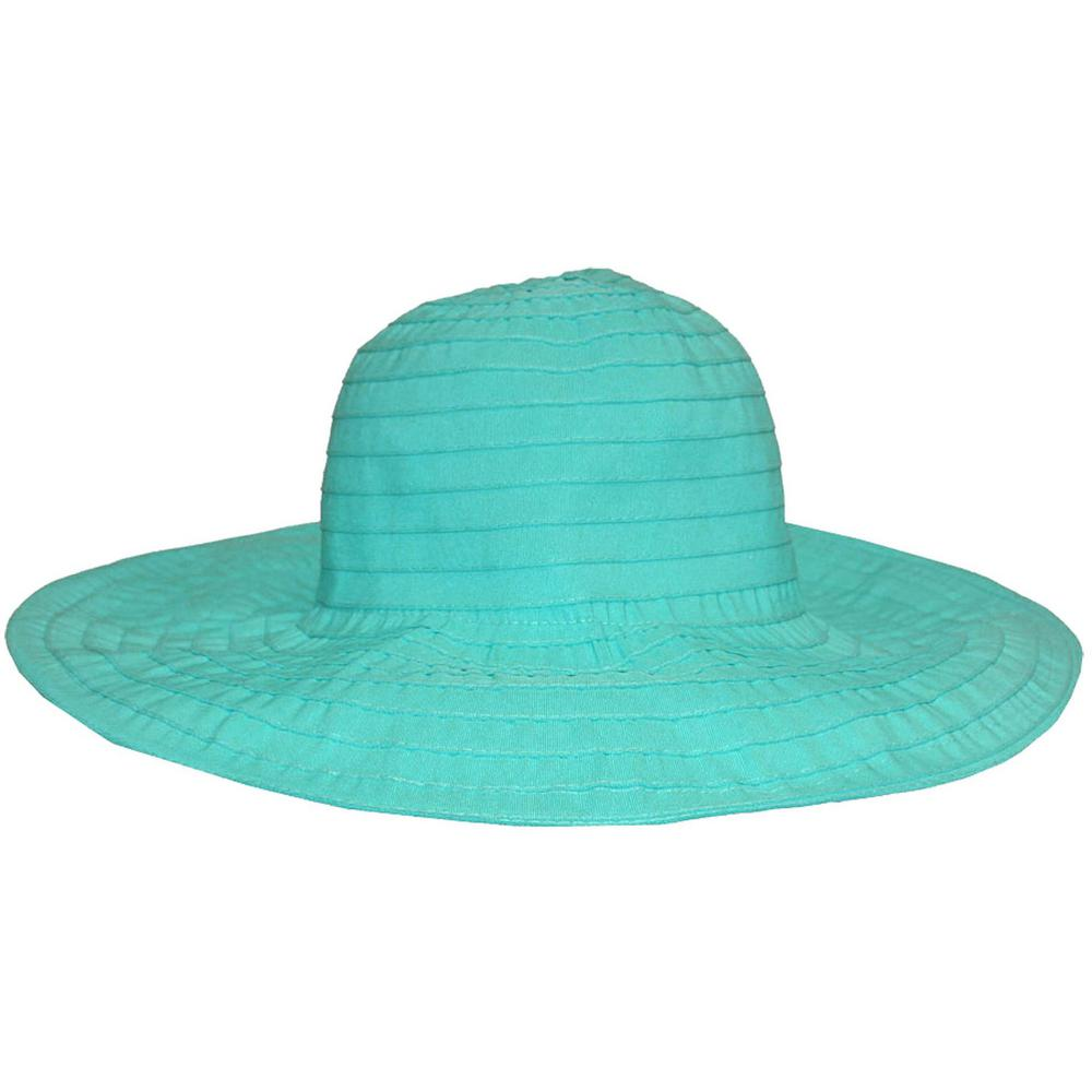 6f9839ac455 Fabric Turquoise Floppy Hat-46B1-EA-00 - The Home Depot
