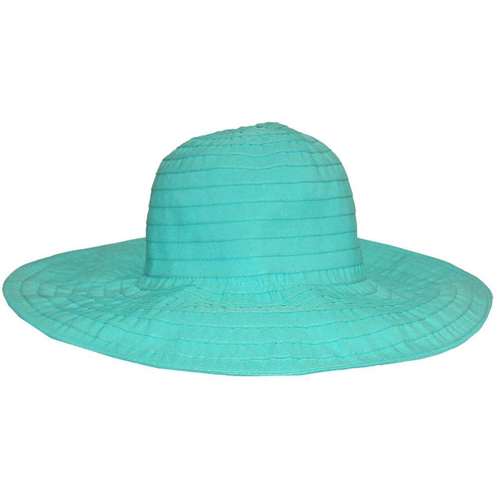 Fabric Turquoise Floppy Hat