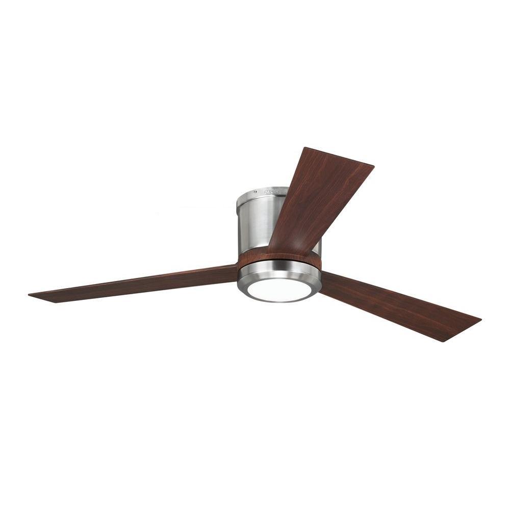 Clarity 52 in. Brushed Steel Ceiling Fan