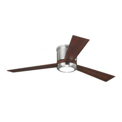 Clarity 52 in. Brushed Steel Ceiling Fan