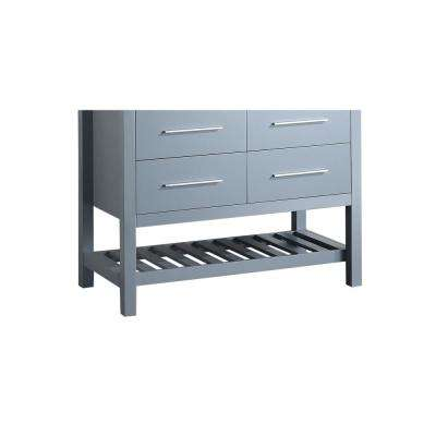 Bosconi 43 in. Main Cabinet Only in Grey with Matte/Polished Chrome Hardware
