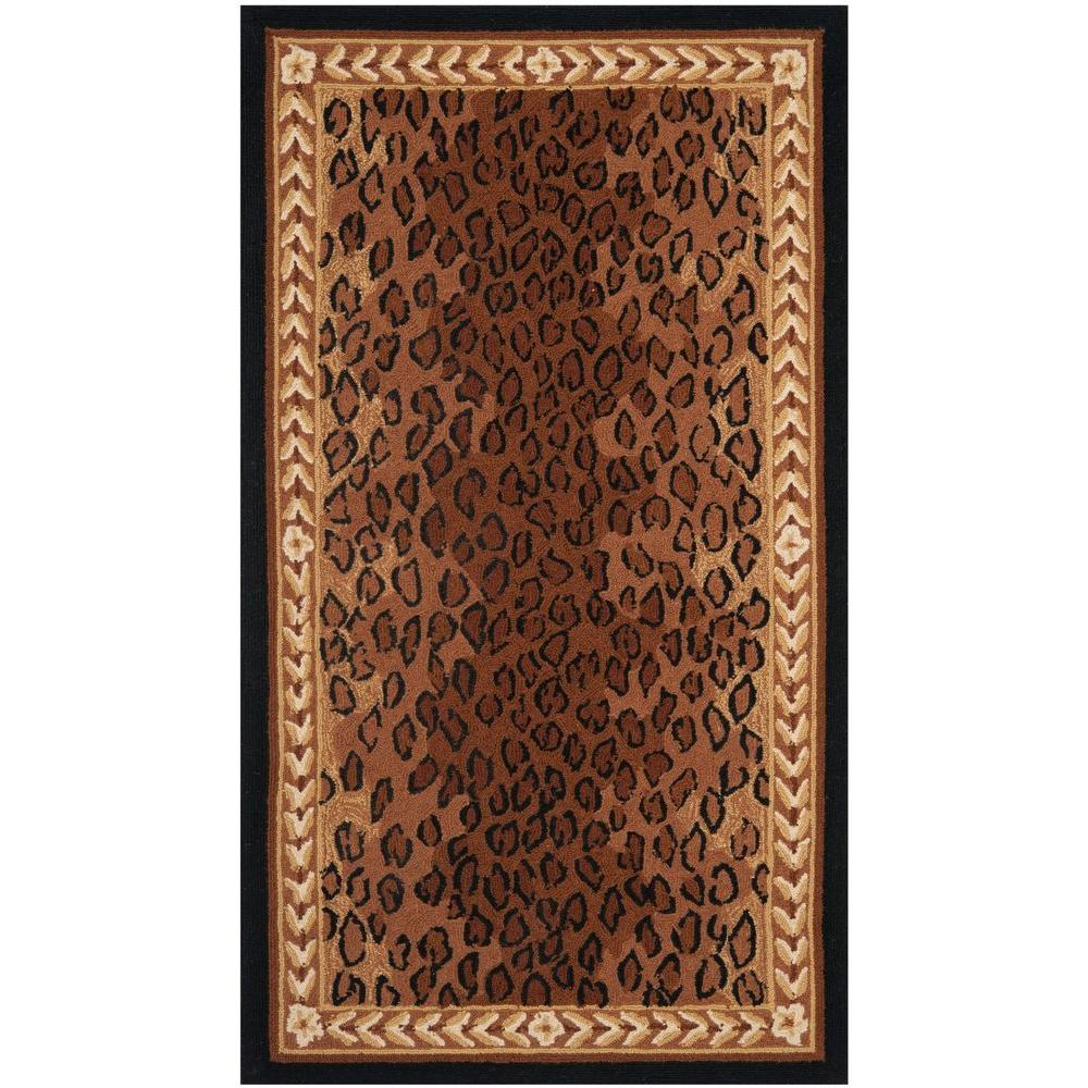 safavieh chelsea black brown 3 ft 9 in x 5 ft 9 in area rug hk15a 4 the home depot. Black Bedroom Furniture Sets. Home Design Ideas