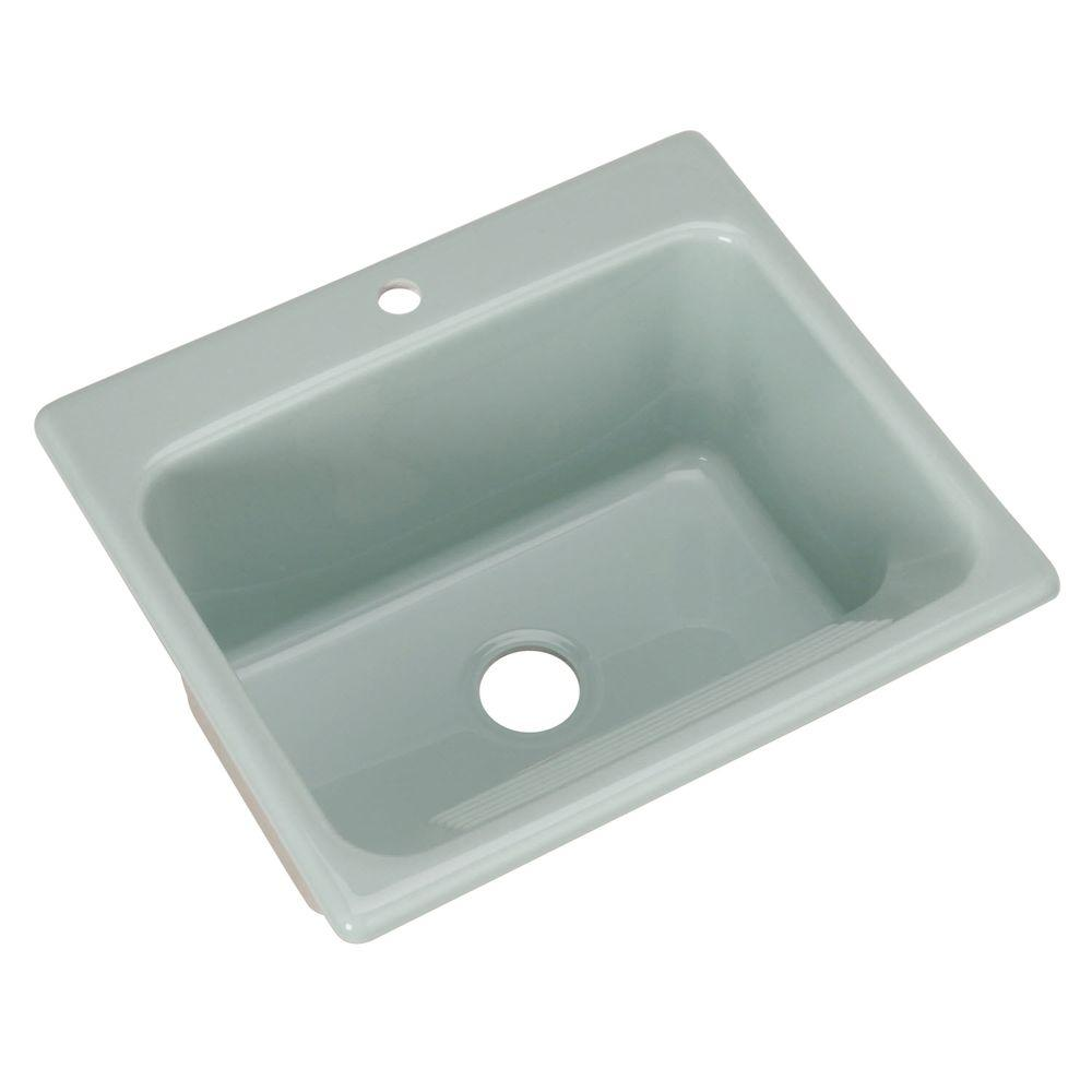 Thermocast Kensington Drop-In Acrylic 25 in. 1-Hole Single Bowl ...