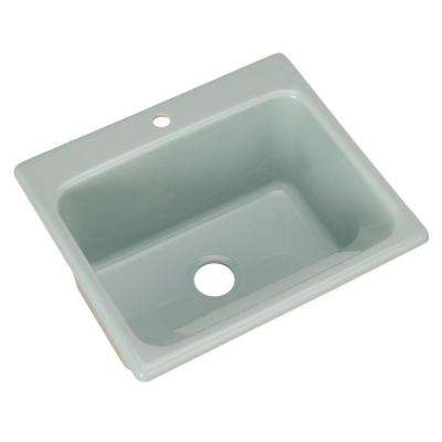 Kensington Drop-In Acrylic 25 in. 1-Hole Single Bowl Utility Sink in Seafoam Green