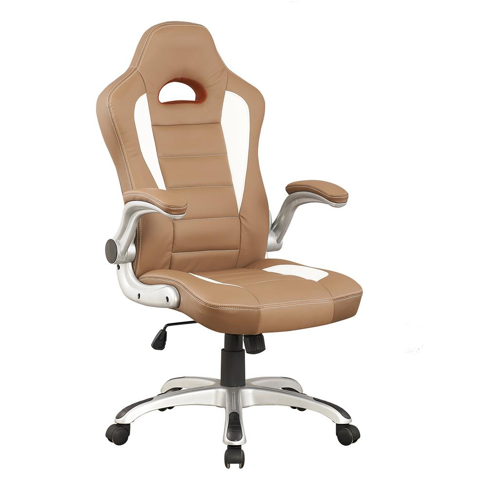 Camel High Back Executive Sport Race Office Chair With Flip Up Arms