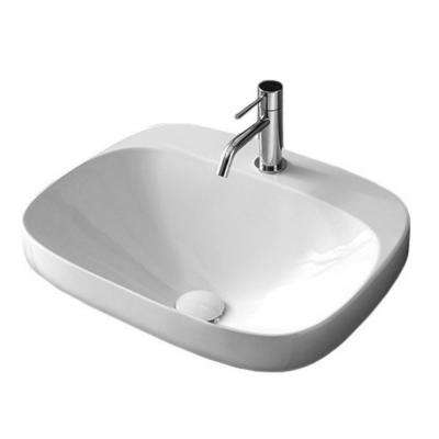 Moon Drop in Bathroom Sink in White