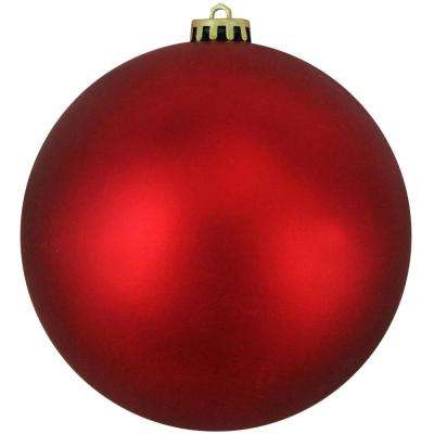 Shatterproof Matte Red Hot Commercial Christmas Ball Ornament