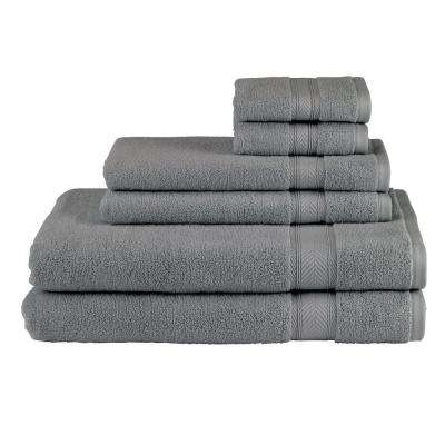 Solid 6-Piece Platinum Towel Set
