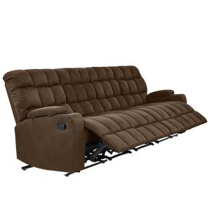 ProLounger 4-Seat Brown Microfiber Wall Hugger Storage ...