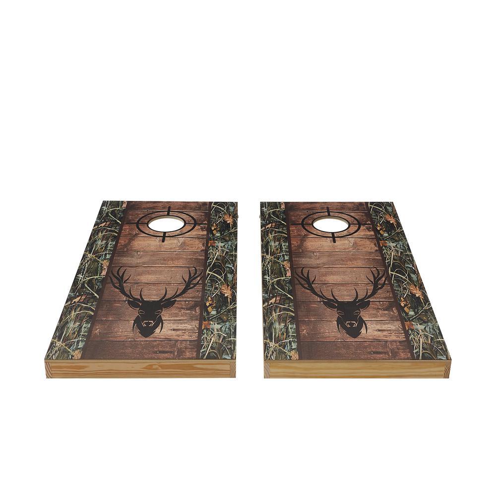 Deer Hunter Wood Cornhole Set
