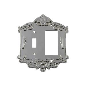 Nostalgic Warehouse Victorian Switch Plate with Toggle and Rocker in Bright... by Nostalgic Warehouse