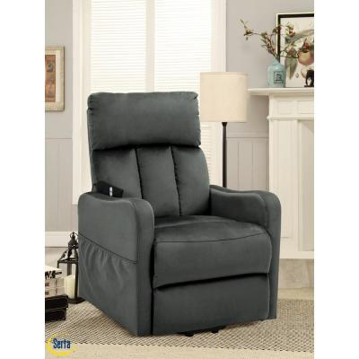 Dixon Serta Slate Gray Multi function Lift Chair Recliner with Solid Hardwood Frame and High Density Foam Cushions
