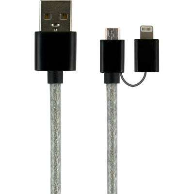 3 ft. 2-in-1 USB Micro Cable with Lightning Adapter