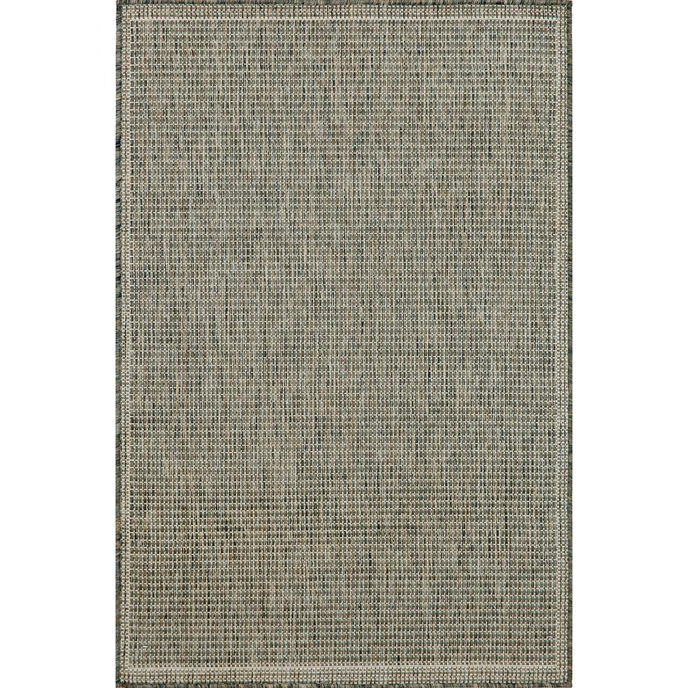 Baxter Solid Silver/Ivory 3 ft. x 5 ft. Indoor/Outdoor Area Rug
