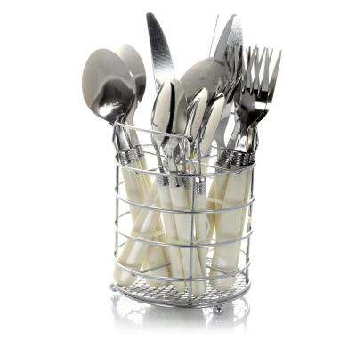 Sensations II 16-Piece White Flatware Set