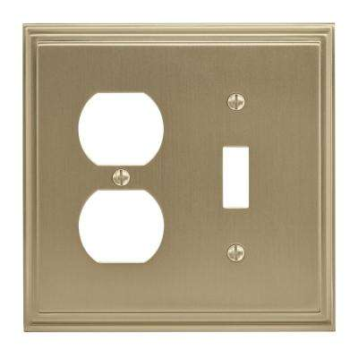Mulholland 1 Toggle, 1 Receptacle Golden Champagne Wall Plate