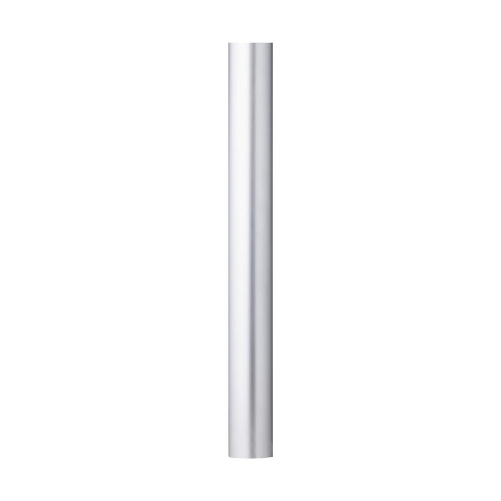 7 ft. Painted Brushed Steel Smooth Outdoor Lamp Post