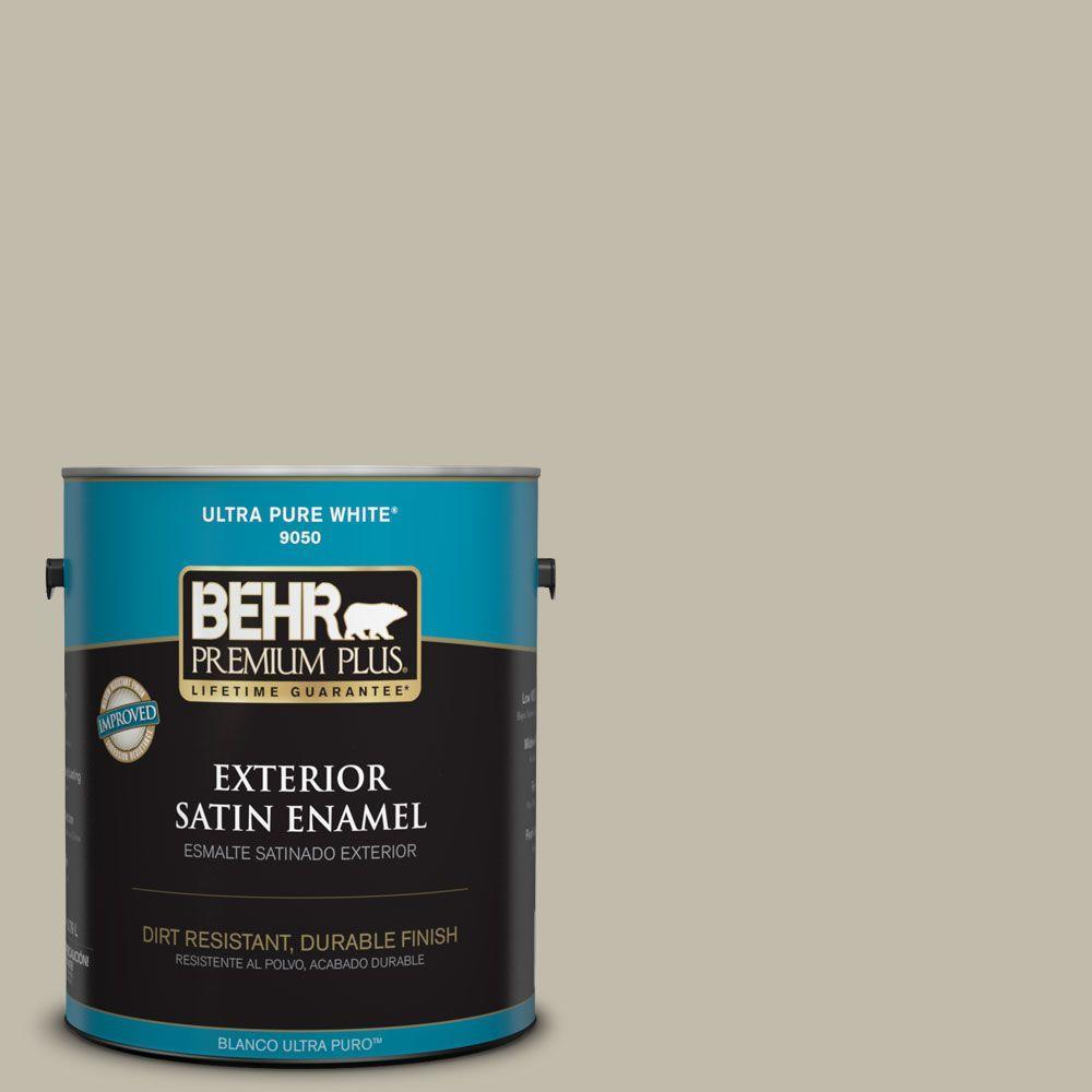 Home Decorators Collection 1-gal. #HDC-FL13-10 Wilderness Gray Satin Enamel