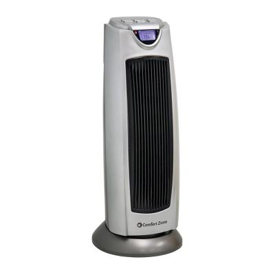 1500-Watt Digital Ceramic Oscillating Electric Tower Heater with Fan and Remote
