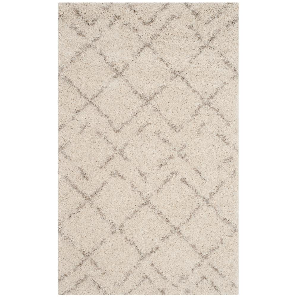 Arizona Shag Ivory/Beige 3 ft. x 5 ft. Area Rug