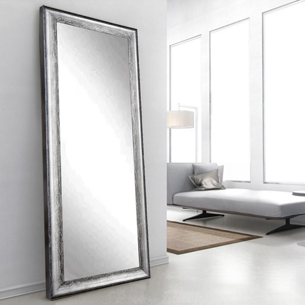 Midnight Silver Decorative Floor Mirror-BM039T - The Home Depot