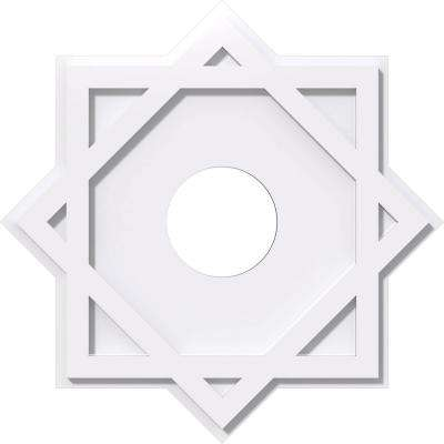 16 in. x 16 in. x 1 in. Axel Architectural Grade PVC Contemporary Ceiling Medallion