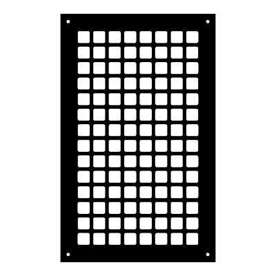 Square Series 14 in. x 8 in. Steel Grille, Black with Mounting Holes