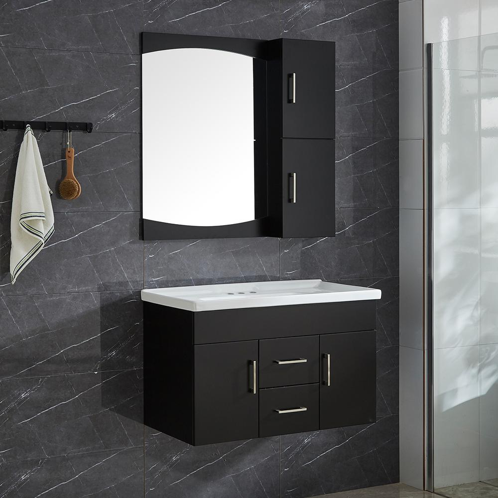 Amazing Garrido Bros Co Victoria Ii 32 In 4 Piece Pvc Floating Vanity Set With Ceramic Basin Vanity Base Mirror And Wall Cabinet Download Free Architecture Designs Scobabritishbridgeorg