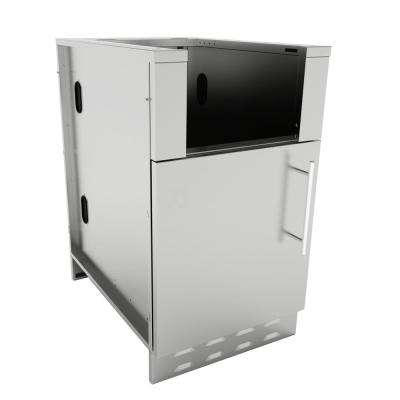 Designer Series 304 Stainless Steel 20 in. x 34.5 in. x 28.25 in. Appliance Cabinet with Left Swing Door