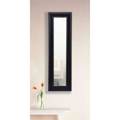 12.5 in. x 33.5 in. Grand Black and Aged Silver Vanity Mirror Single Panel