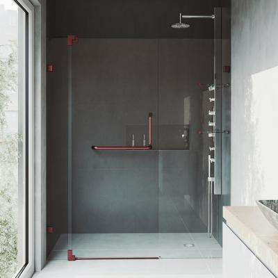 Pirouette 66 in. x 72 in. Frameless Pivot Shower Door with Hardware and 3/8 in. Clear Glass in Oil Rubbed Bronze