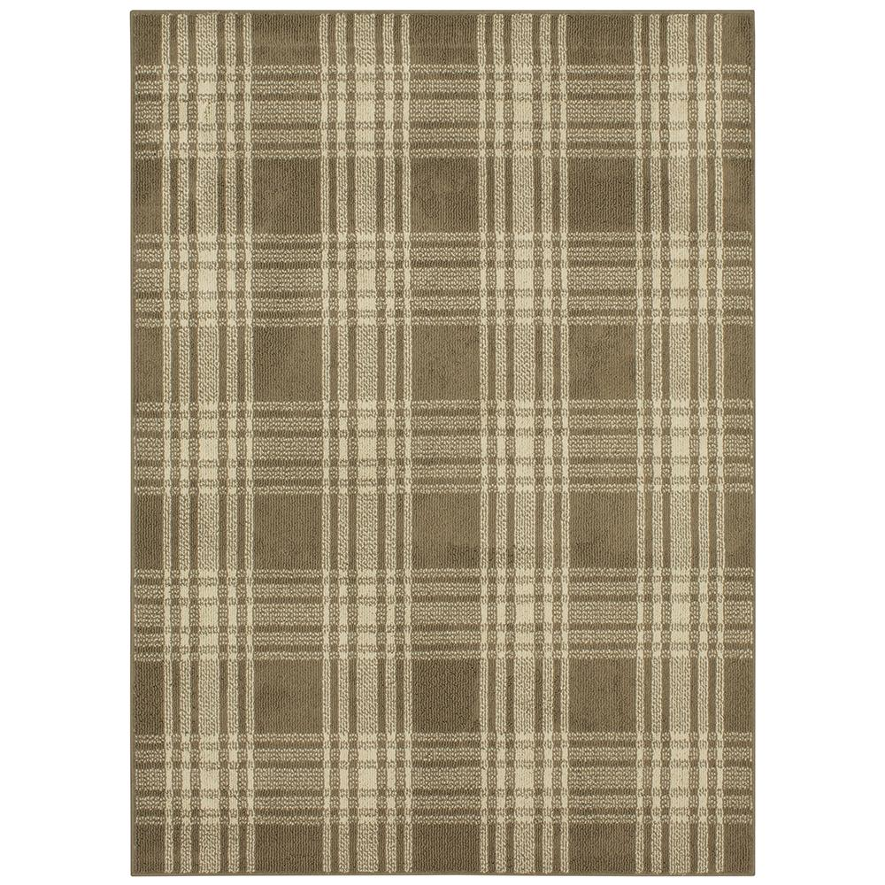 Mohawk Home Erickson Plaid Oyster Frost 2 ft. x 4 ft. Area Rug