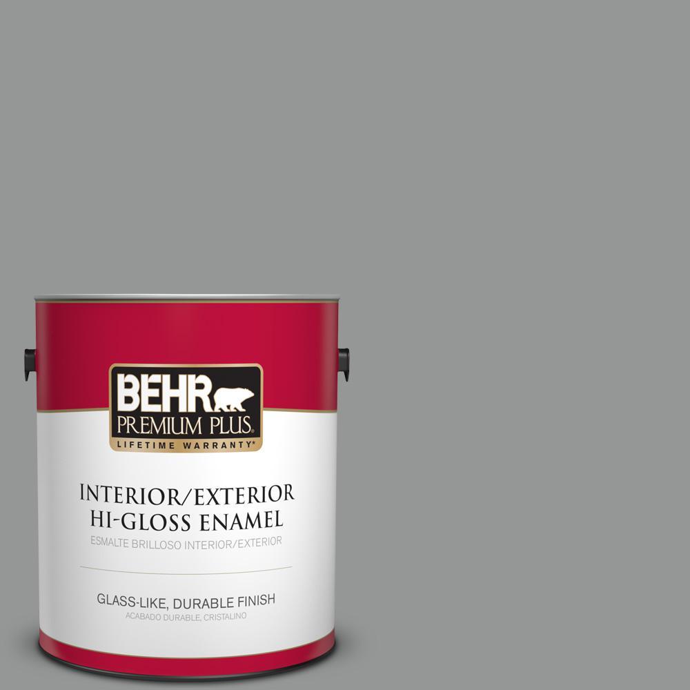 1 gal. #PPU24-19 Shark Fin Hi-Gloss Enamel Interior/Exterior Paint