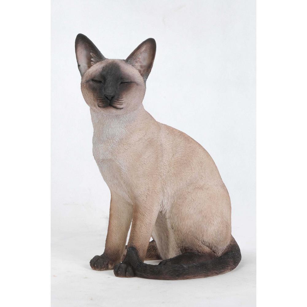 Hi-Line Gift Siamese Cat Sitting Garden Statue