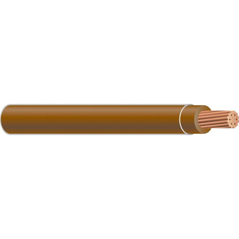(By-the-Foot) 10 Brown Stranded CU THHN Wire