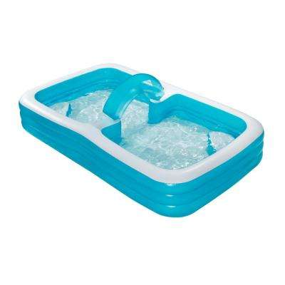 Swin-Thru Family 120 in. x 72 in. x 22 in. D Inflatable Rectangular Above Ground Pool
