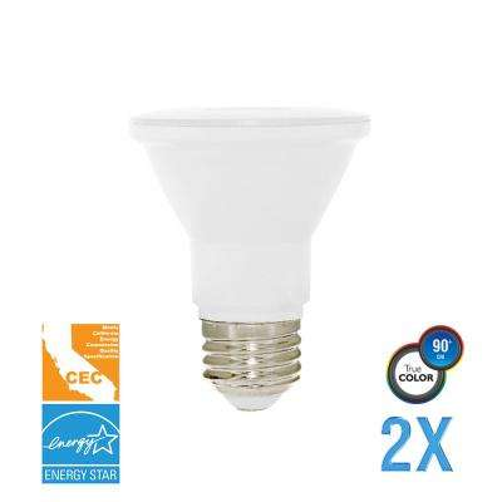 50W Equivalent Soft White PAR20 Dimmable LED CEC-Certified Light Bulb (2-Pack)