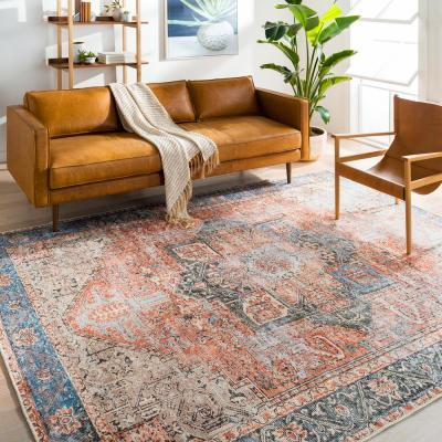 Gilda Rose 8 ft. 10 in. x 12 ft. Distressed Area Rug