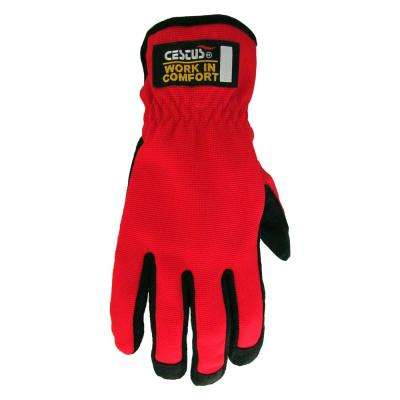 2X-Large Year Round Comfort Fleece Fabric Work Glove (2-Pair/Pack)