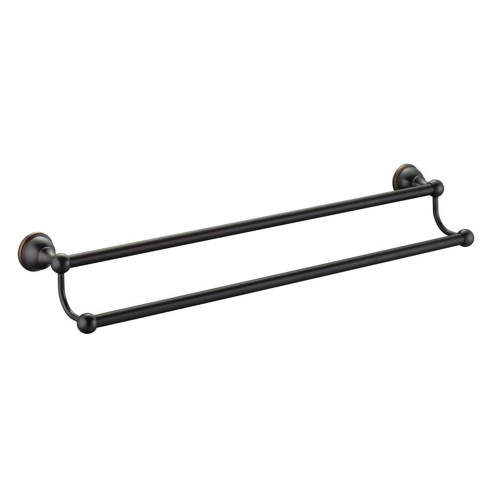 Glacier Bay Mandouri Series 24 in. Double Towel Bar in Bronze