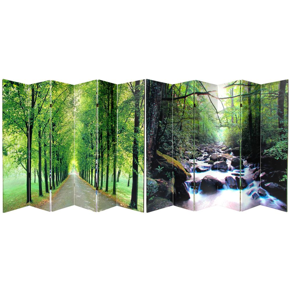 6 ft. Printed 6-Panel Room Divider-CAN-PATH-6P - The Home ...