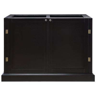 Prescott Black Modular Six Shelf Pantry Base