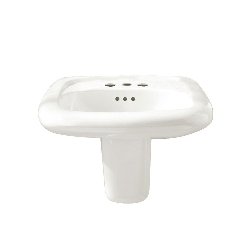American Standard Murro Wall-Mount Bathroom Sink in White-DISCONTINUED