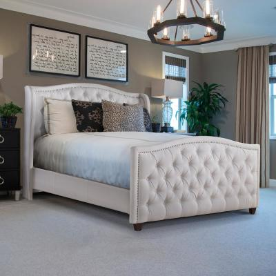 Marcella Bright White Queen Upholstered Bed