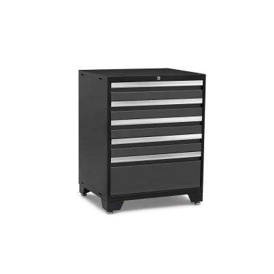 Pro Series 28 in. W x 37.5 in. H x 22 in. D 18-Gauge Steel 5-Drawer Tool Cabinet in Gray