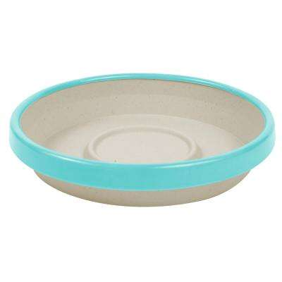 Terra 2 Tone 12 in. Taupe with Calypso Plastic Saucer