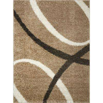 Synergy Beige/White 8 ft. x 10 ft. Indoor Area Rug